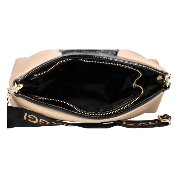 Elegantní dámská výstřední kabelka Sophia, béžová