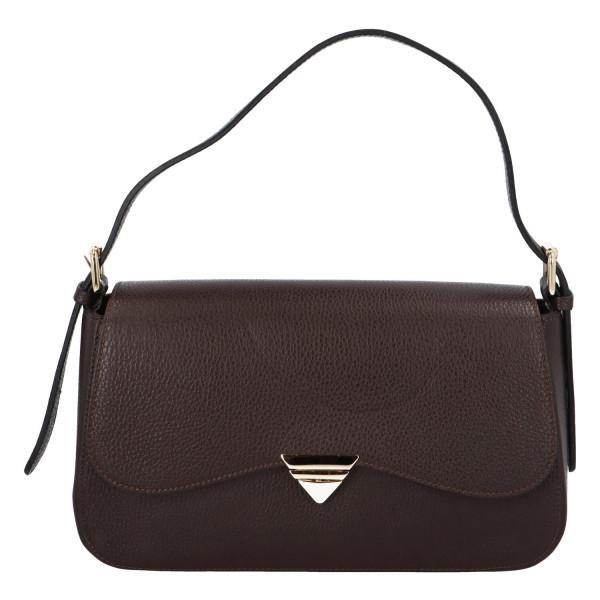 Elegantní dámská kožená kabelka do ruky Dianee, tmavě hnědá