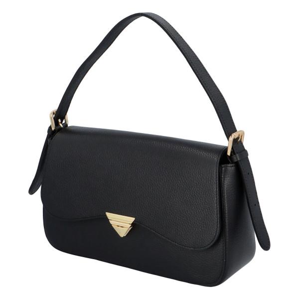 Elegantní dámská kožená kabelka do ruky Dianee, černá