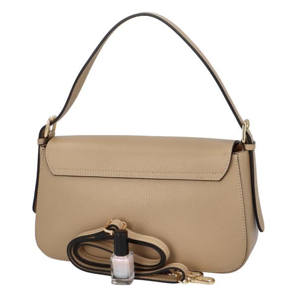 Elegantní dámská kožená kabelka do ruky Dianee, béžová