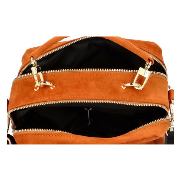 Stylová dámská kabelka do ruky Lara, hnědá