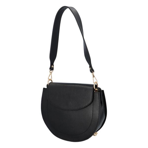 Luxusní kožená kabelka April, černá