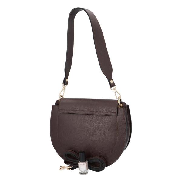 Luxusní kožená kabelka April, tmavě hnědá