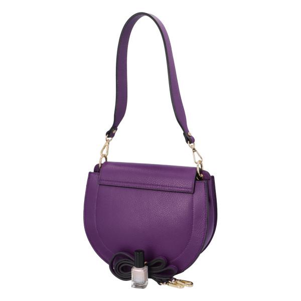 Luxusní kožená kabelka April, fialová