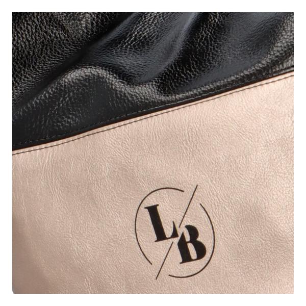 Elegantní dámská kabelka Evelyn, černo-béžová