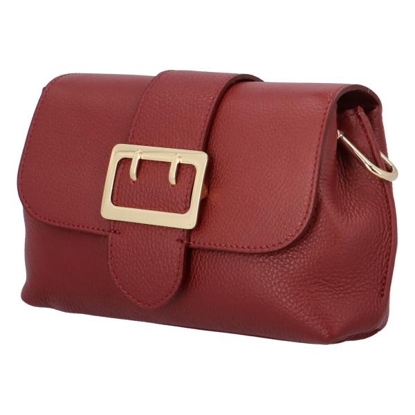 Kožená kabelka Sindy, červená
