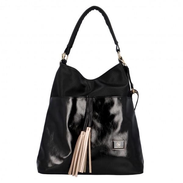 Elegantní dámská kabelka Amelia, černo-zlatá