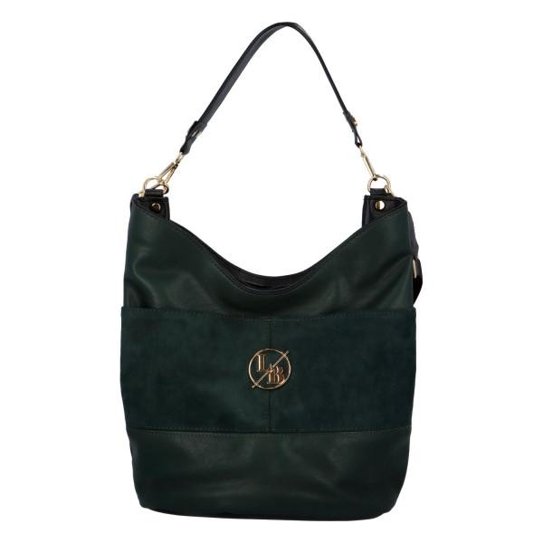 Elegantní dámská kabelka přes rameno Emma, smaragdová