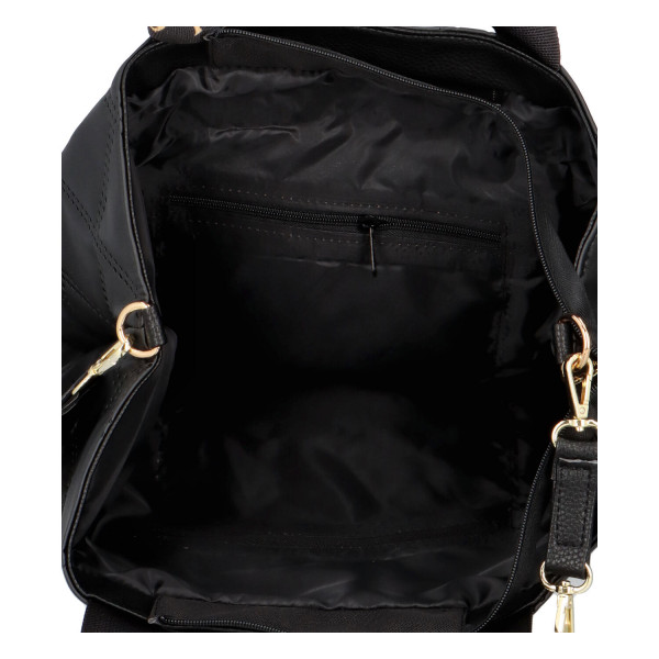 Elegantní dámská kabelka Charlotte, černo-zlatá