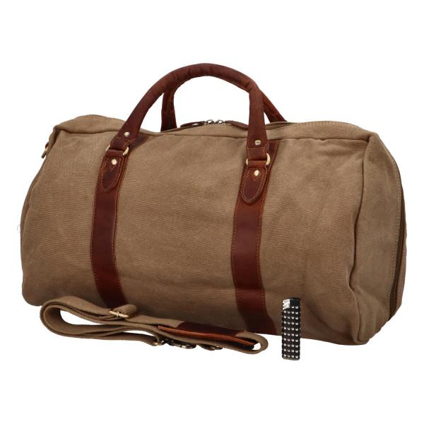 Luxusní kožená cestovní taška Travel deluxe, hnědá