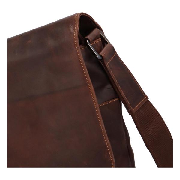 Pánská kožená crossbody taška Marvin, hnědá