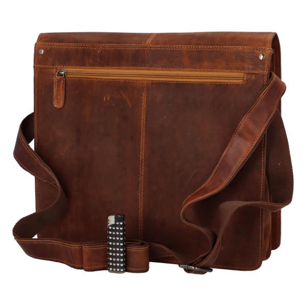 Pánská kožená crossbody taška Sasha, hnědá