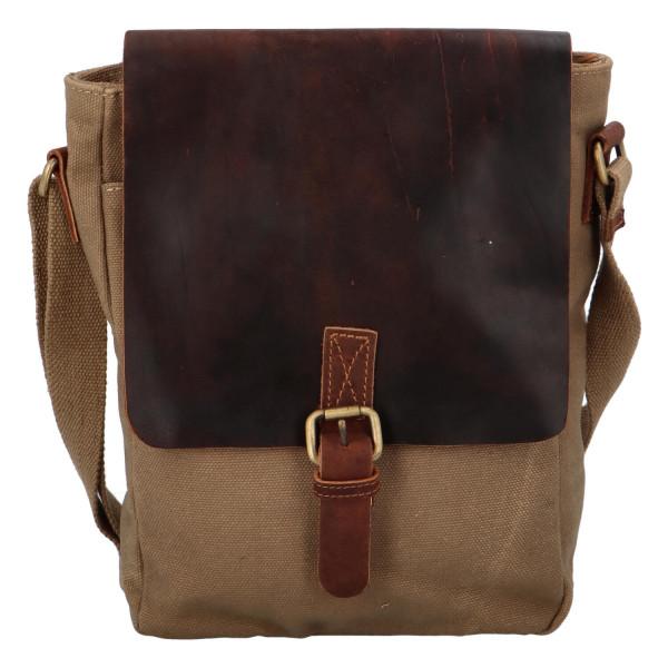 Pánská koženo-látková crossbody taška Greenwood stylish