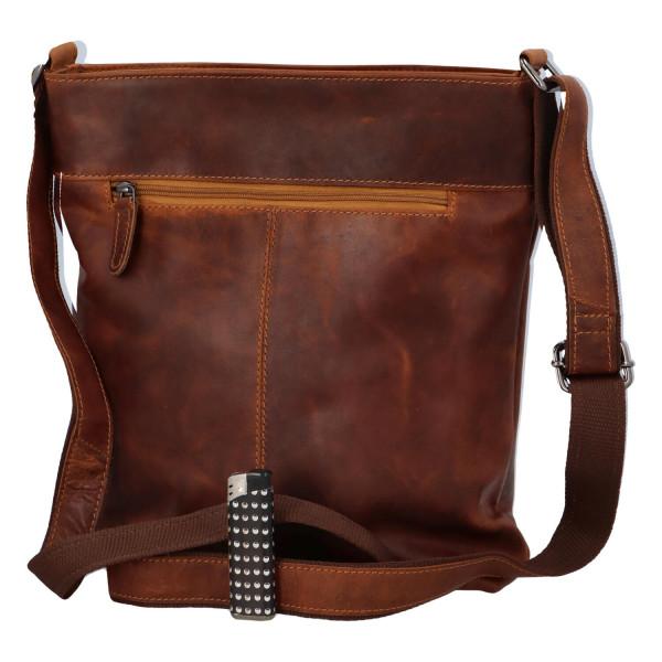 Pánská kožená crossbody taška Milano, světle hnědá