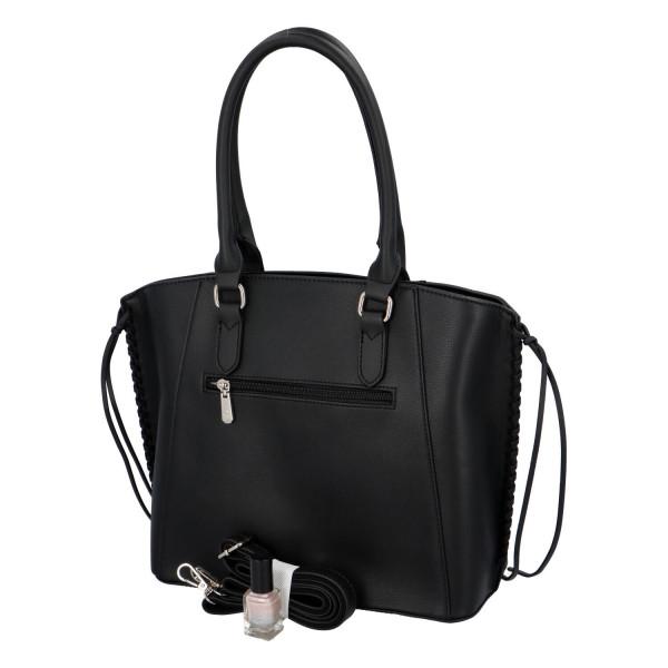 Trendy dámská koženková kabelka Diana, černá