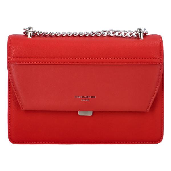 Stylová dámská crossbody kabelka Marie, červená