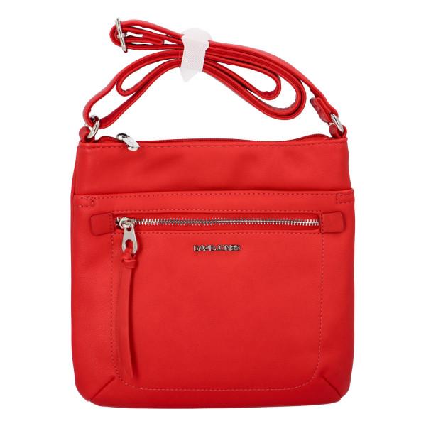 Stylová dámská kabelka přes rameno Annika, červená
