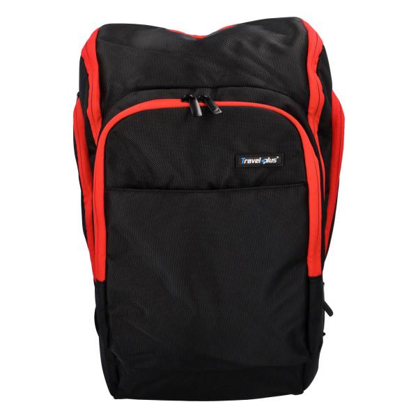 Praktický cestovní batoh Antonio, červená-černá