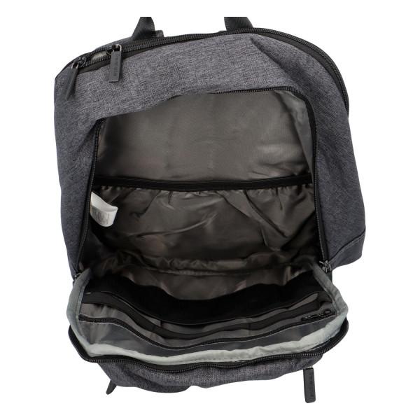 Stylový městský batoh Eduard, černá-šedá