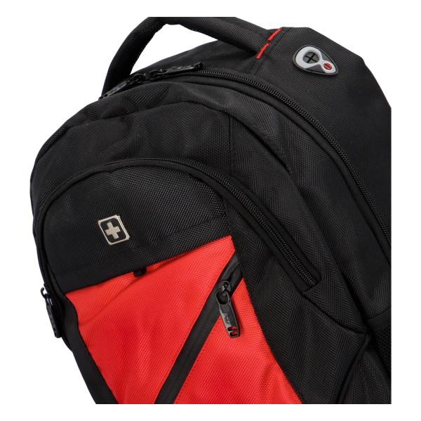 Praktický městský batoh Ilja, černá-červená