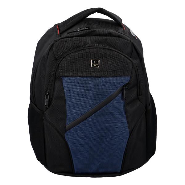 Praktický městský batoh Ilja, černá-modrá