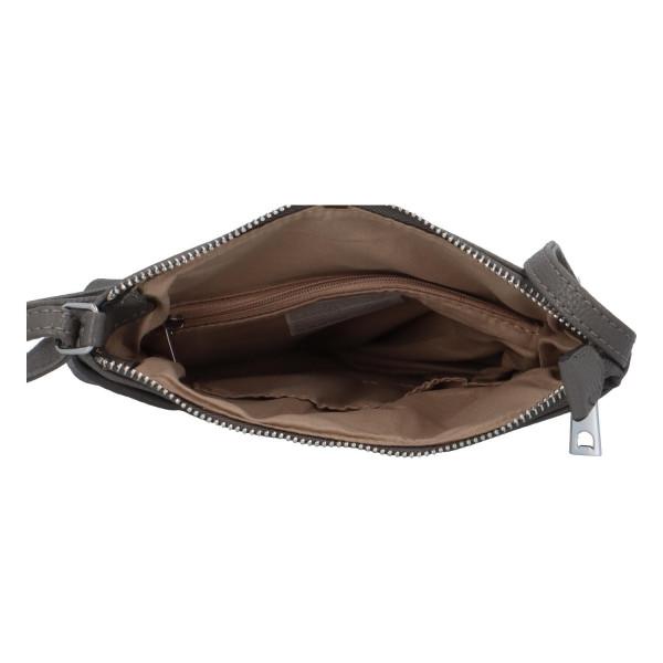 Stylová dámská kabelka Georgia přes rameno, šedá
