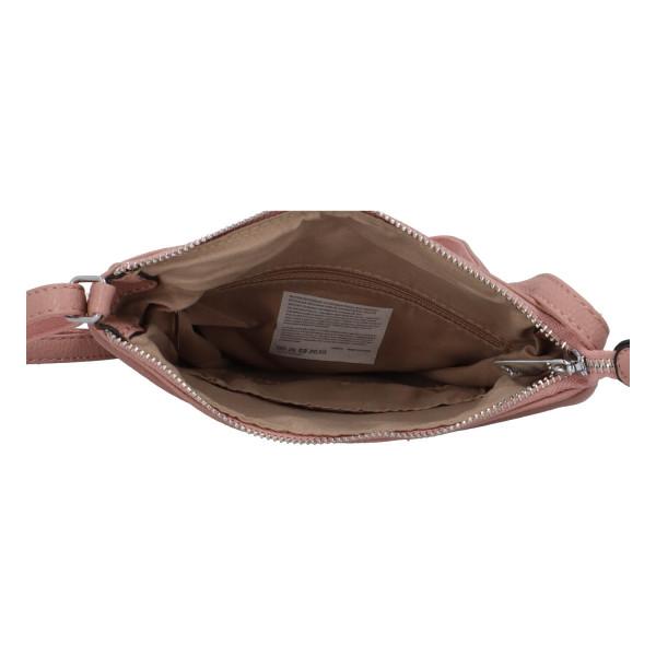 Stylová dámská kabelka Georgia přes rameno, růžová