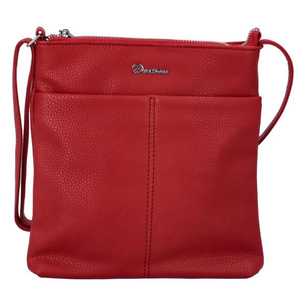 Stylová dámská kabelka Georgia přes rameno, červená