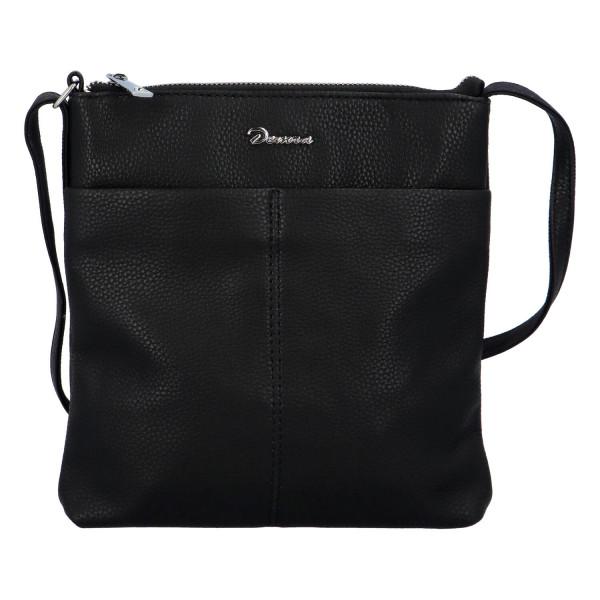Stylová dámská kabelka Georgia přes rameno, černá