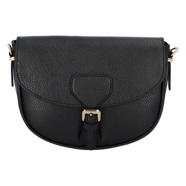Elegantní společenská kožená kabelka Hannah, černá