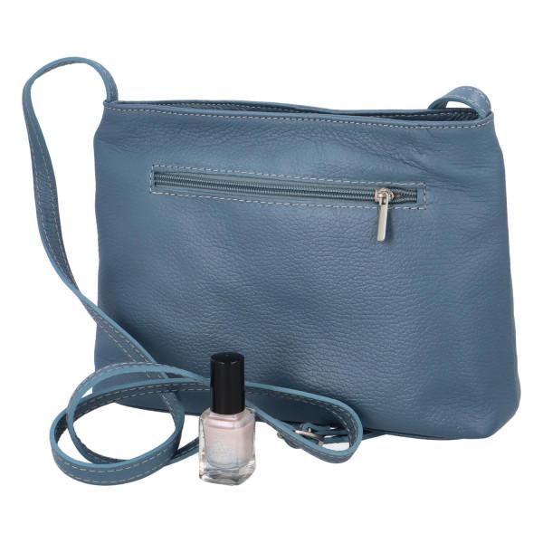 Dámská kožená kabelka Mirna, modrá