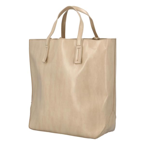 Módní dámská kabelka do ruky i přes rameno Nora, béžová
