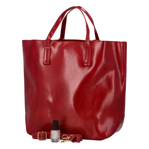 Módní dámská kabelka do ruky i přes rameno Nora, červená