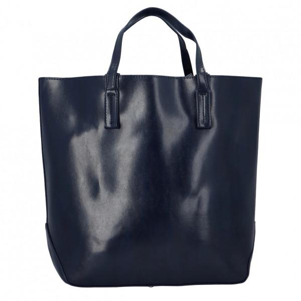 Módní dámská kabelka do ruky i přes rameno Nora, modrá
