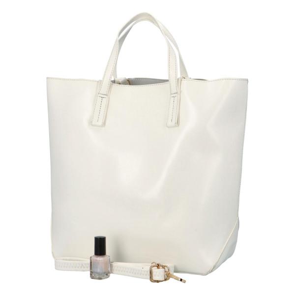 Módní dámská kabelka do ruky i přes rameno Nora, bílá