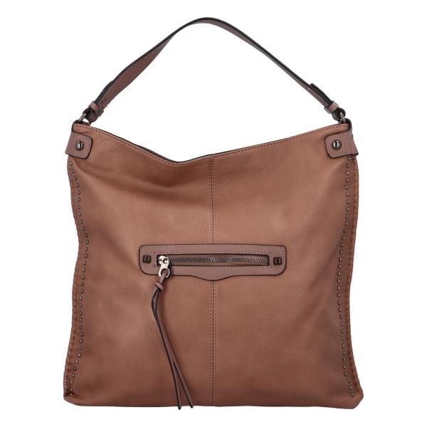 Nadčasová koženková kabelka Kennedy, růžová