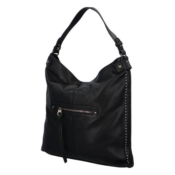 Nadčasová koženková kabelka Kennedy, černá