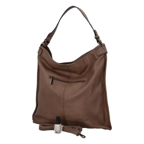 Nadčasová koženková kabelka Kennedy, taupe