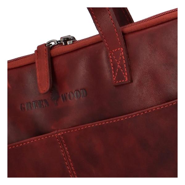 Luxusní kožená business taška Teodoe, červená