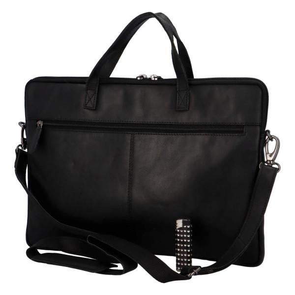 Luxusní kožená business taška Teodoe, černá