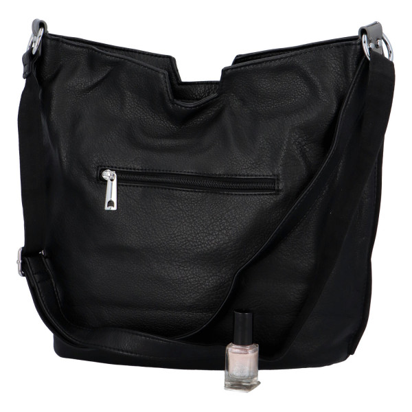 Stylová dámská kabelka přes rameno Cecilia, černá