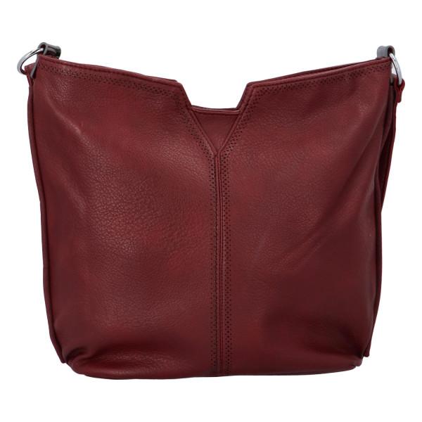 Stylová dámská kabelka přes rameno Cecilia, vínová