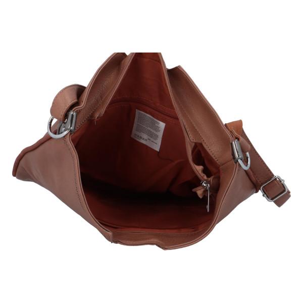 Stylová dámská kabelka přes rameno Cecilia, staro-růžová