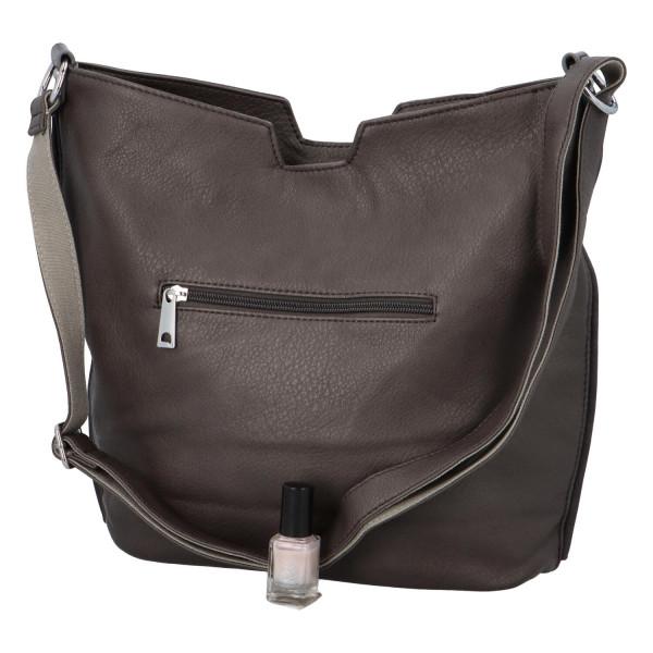 Stylová dámská kabelka přes rameno Cecilia, šedá