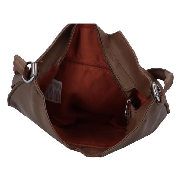 Stylová dámská kabelka přes rameno Cecilia, taupe