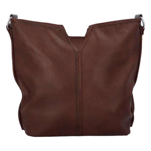 Stylová dámská kabelka přes rameno Cecilia, coffee