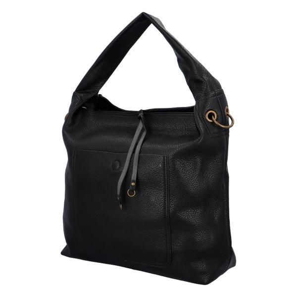 Elegantní dámská kabelka Carmen do ruky i přes rameno, černá
