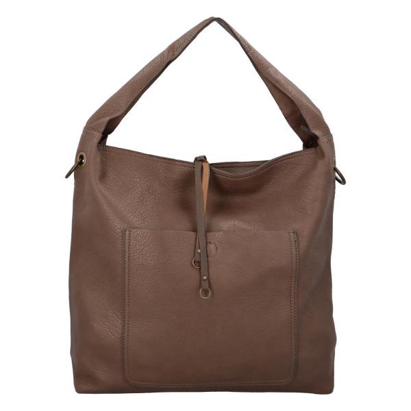 Elegantní dámská kabelka Carmen do ruky i přes rameno, clay