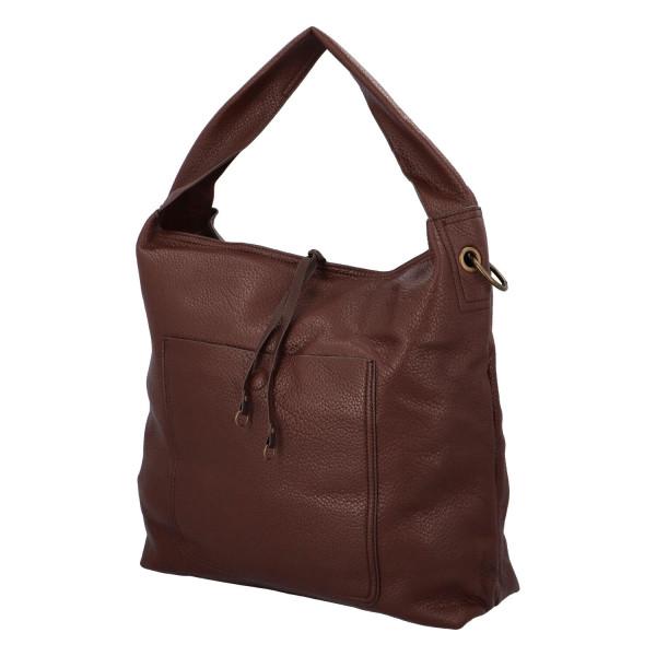 Elegantní dámská kabelka Carmen do ruky i přes rameno, coffee