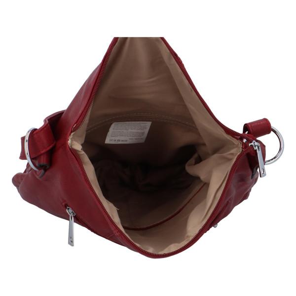 Praktická dámská kabelka Danica přes rameno, červená